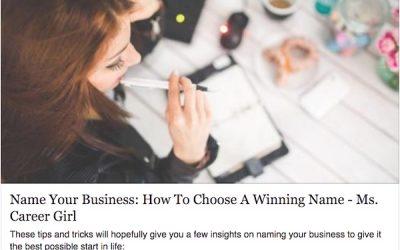 Artikel: Namnge din business – Hur du väljer ett vinnande namn