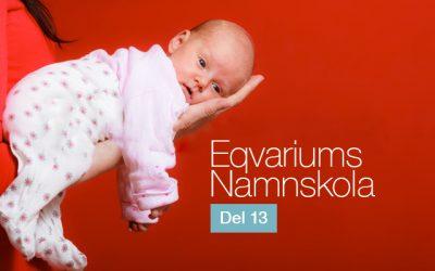 Eqvariums namnskola del 13