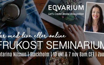 Välkommen till Eqvarium's frukostseminarium!